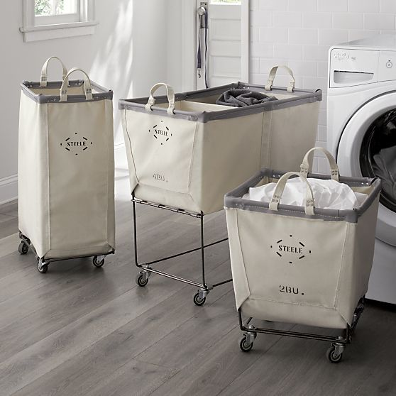 """Steele ® Vertical Canvas Laundry Bin 