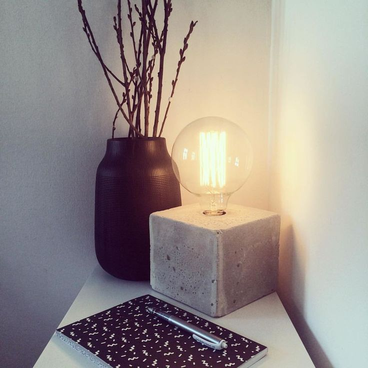 DIY - Luminária de concreto descolada e facílima de fazer. Quer aprender?