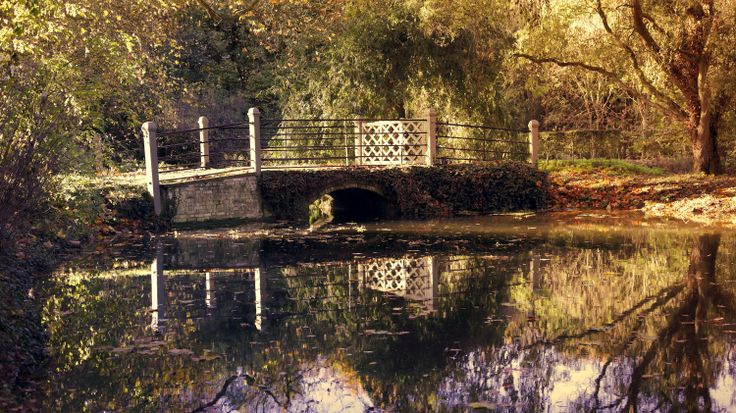 Bridge and rive at Anglesey Abbey.  Additional colour enhancements preformed in Photoshop Elements.