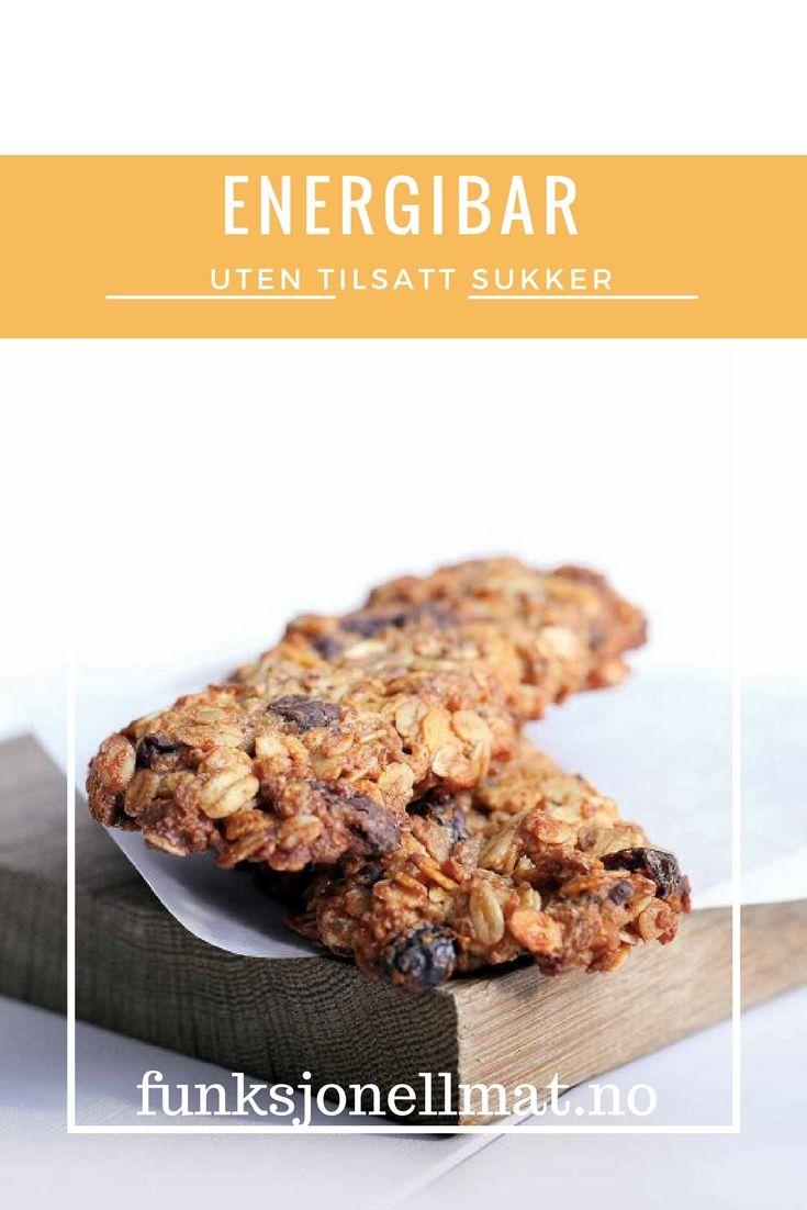 Energibar - Funksjonell Mat | Oppskrift uten tilsatt sukker | Sukkerfri energibar | Sunn snacks | Mat inspirasjon | Gode oppskrifter