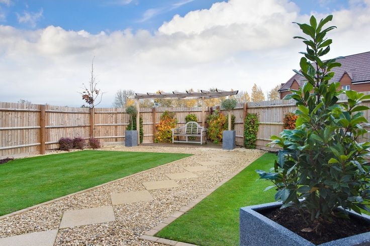 Rear garden at Letcombe Fields in Wantage   Bovis Homes