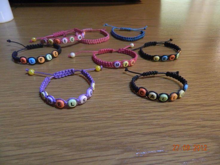 Name bracelets made to order hen doo bracelet pinterest
