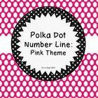 Add this bright pink polka dot number line to your classroom! This packet includes numbers zero through twenty.