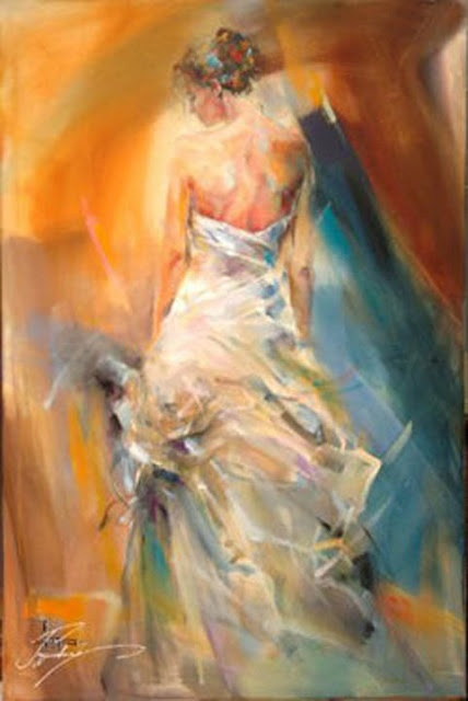 Artist - Anna Razumovskaya, love the coloring in this painting, soft with a touch of romance!!!