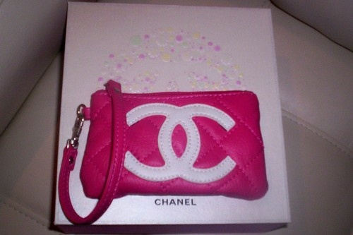 CHANEL Pink CC Quilted Wristlet Mini Wallet Bag - $32.00