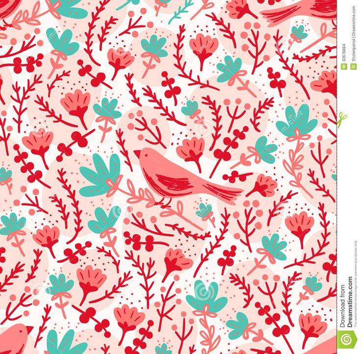 http://thumbs.dreamstime.com/z/birds-flowers-pattern ...