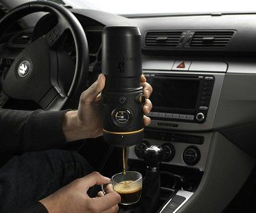 Enjoy a pick me up when you're busy and on-the-go with this car espresso maker! This set includes everything you need for a quick and tasty caffeine fix. Just add water and a coffee pod before you plug it into your cigarette lighter socket. Your espresso will be ready in just a few minutes. Awesome!