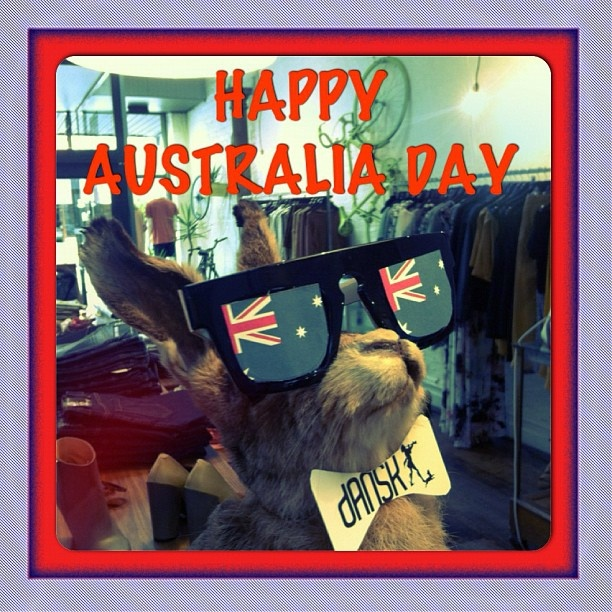 Our house mascot and all of us at Dansk is wishing all of you lovely people out there a happy Australia Day!