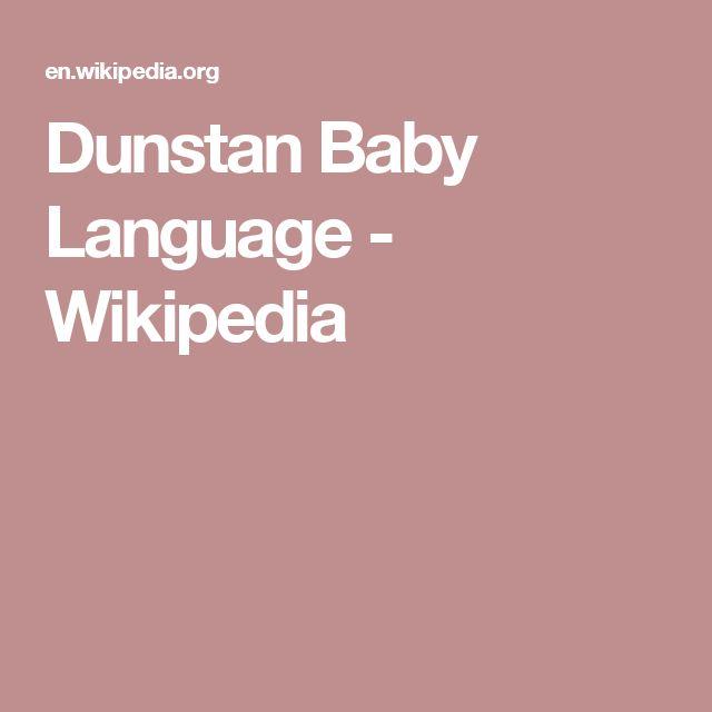 Dunstan Baby Language - Wikipedia
