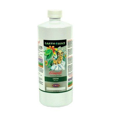 Earth Juice Elements Grow 1600 Plant Supplement Size 1 Quart ** For more information, visit image link.