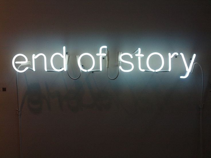 End Of Story. 2012. Fotografía de smc_90 (CC)