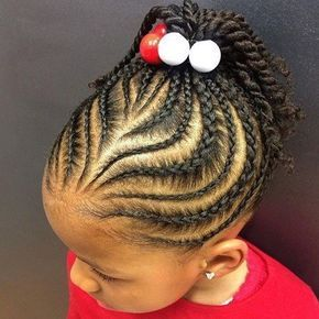 Searching for braids hairstyles for little girls? You have come to the  right place. We have compiled 20 fabulous braids hairstyles for little girls.  Check them out now! Braided hairstyles for little girls require only one thing  that is: pull hair back and away from the face. So children can have their fun  time without any fuss. This option features ever beautiful cornrows. Discover  more- Braids Hairstyles for Little Girls black, easy, curls. #littlegirlhairstylesforshorthair