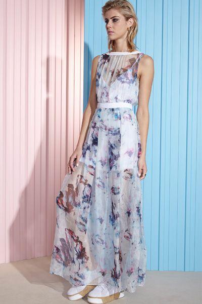 Organza maxi dress