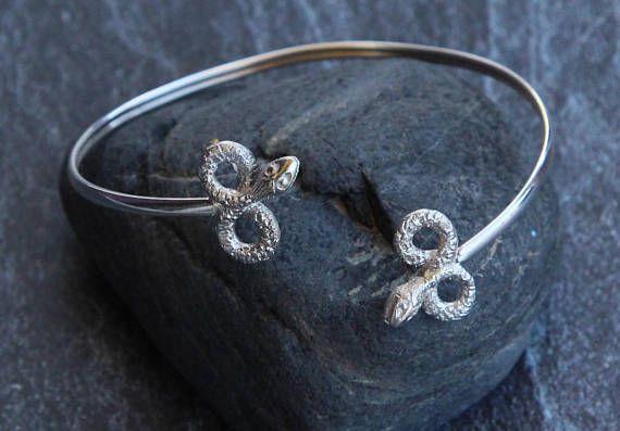 925 silver bracelet Snake bracelet cuff Sterling silver