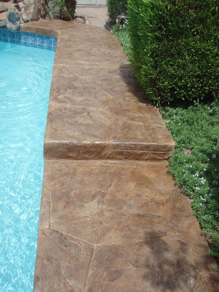 LastiSeal Stain U0026 Sealer Applied To Pool Deck. Http://www.radonseal
