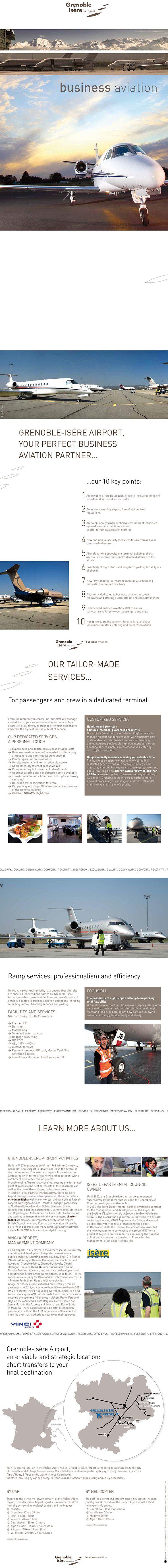 Plaquette A4 - version anglaise - Aéroport de Grenoble Création Ligne Ovale http://www.ligneovale.fr