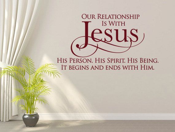 Christian wall decal our relationship is with jesus code 091 vinyl lettering quotesvinyl
