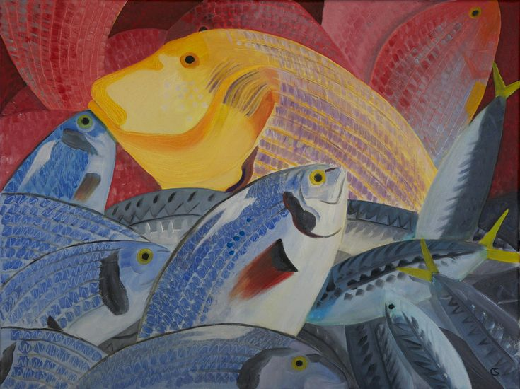 'Huelva catch' 40x60cms, oil on canvas by Christo Sharpe.