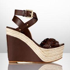 Filipina Calfskin Wedge - #Ralph Lauren #Collection Heels & #Pumps - Ralph #Lauren UK