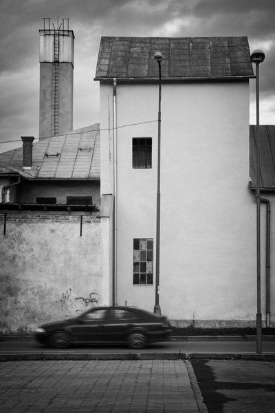 #house #car #chimney #window   //   bwstock.photography - photo   free download black and white photos