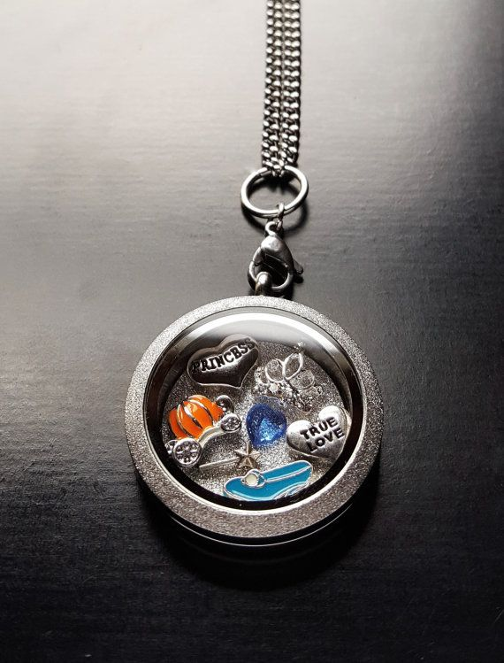 Cinderella Floating Locket Necklace-Great Gift by PrettyPalazzo