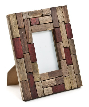 Wooden blocks frame
