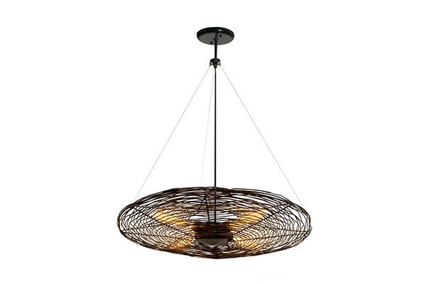 France And Son Seven Globe Branching Ceiling Lamp Modern