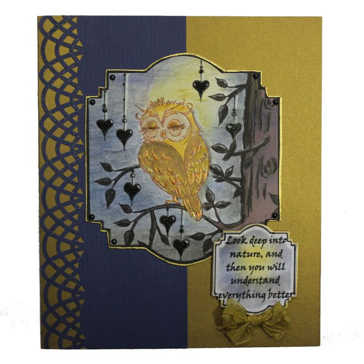 This Gorgeous card was made by Anna Flanders using Hobby Arts stamp set Owls