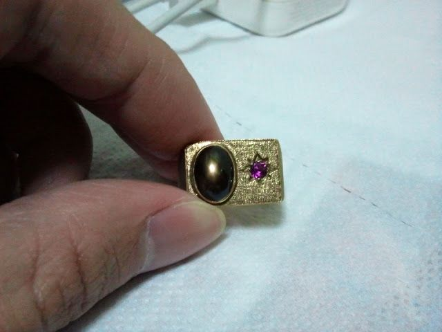 Black Sapphire Antique Ring in the Wonderful Sapphire Birthstones