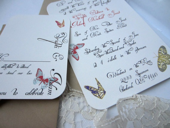 Wedding Butterfly Invitations: 1000+ Images About Butterfly Wedding Invitations On Pinterest