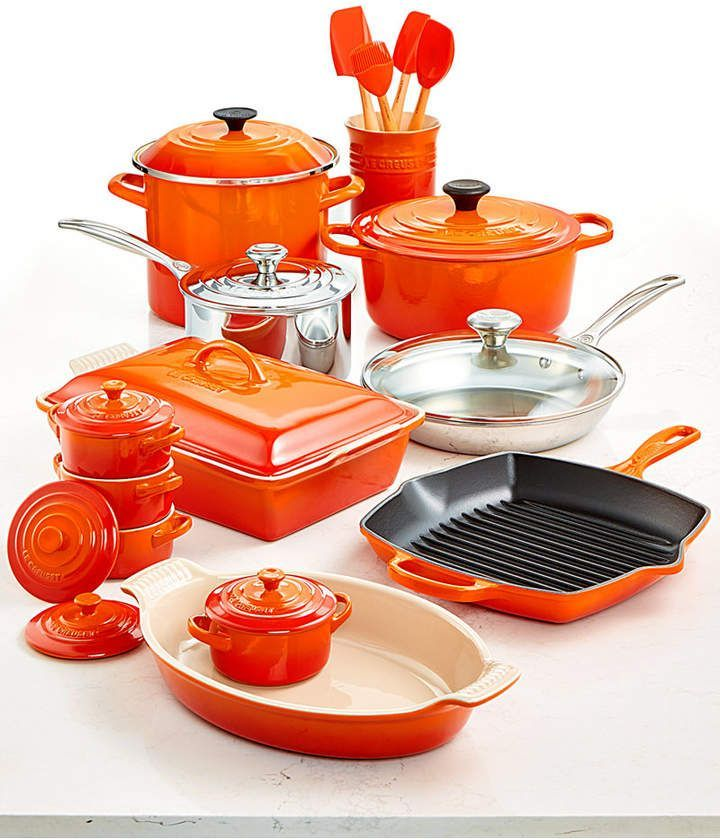 Le Creuset Multi Materials 20 Pc Cookware Set Created For Macy S Le Creuset Cookware Cookware Set Cookware Sets