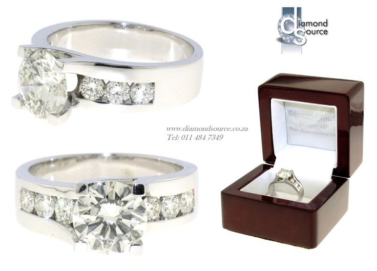Frances Design -  This is another one of our most recent commissions featuring a Frances diamond engagement ring design. This 18ct. White Gold ring is set with a 2.00ct. Round Brilliant-cut centre diamond. Please email or call us with any queries. FREE QUOTATIONS on any jewellery design you require. E: info@diamondsource.co.za W: www.diamondsource.co.za T: 011 484 7349