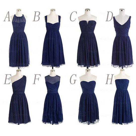 Multi Styles Knee Length Bridesmaid Dresses Pst0259 on Luulla