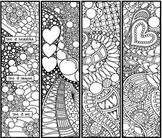 Bookmarks of Love Lineart by *KathyAhrens on deviantART