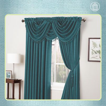 You can't go wrong with teal on your windows! #annaslinens #homedecor