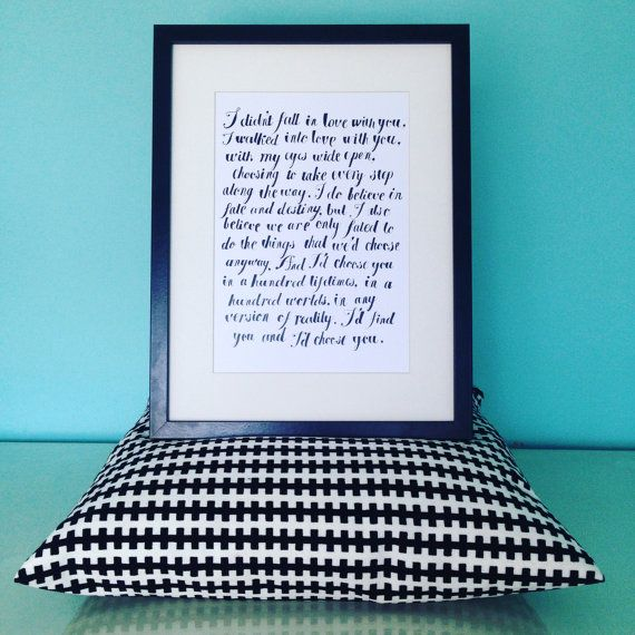 Wall Art, Typographical, Room, Kiersten White, The Chaos of Stars, Quotes.