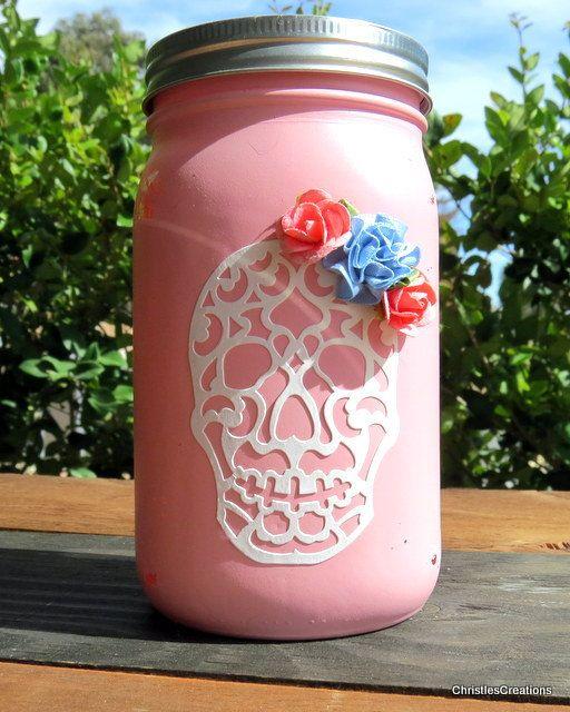 Shabby Chic Rustic Sugar Skull Decor by ChristlesCreations on Etsy