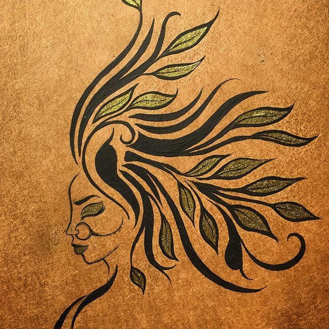 Breathe, rest, begin again. •••  Gold ink!   ••• #myart #ink #art