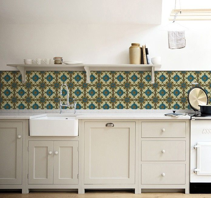 Durf jij het aan: deze zeldzame Majolica tegels als achterwand voor je keuken? Bijna niet van echt te onderscheiden en een stuk goedkoper! Price €125,00
