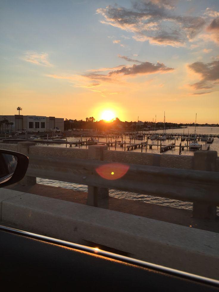 Sunset in Tierra Verde Florida, over Boca Ciega Bay