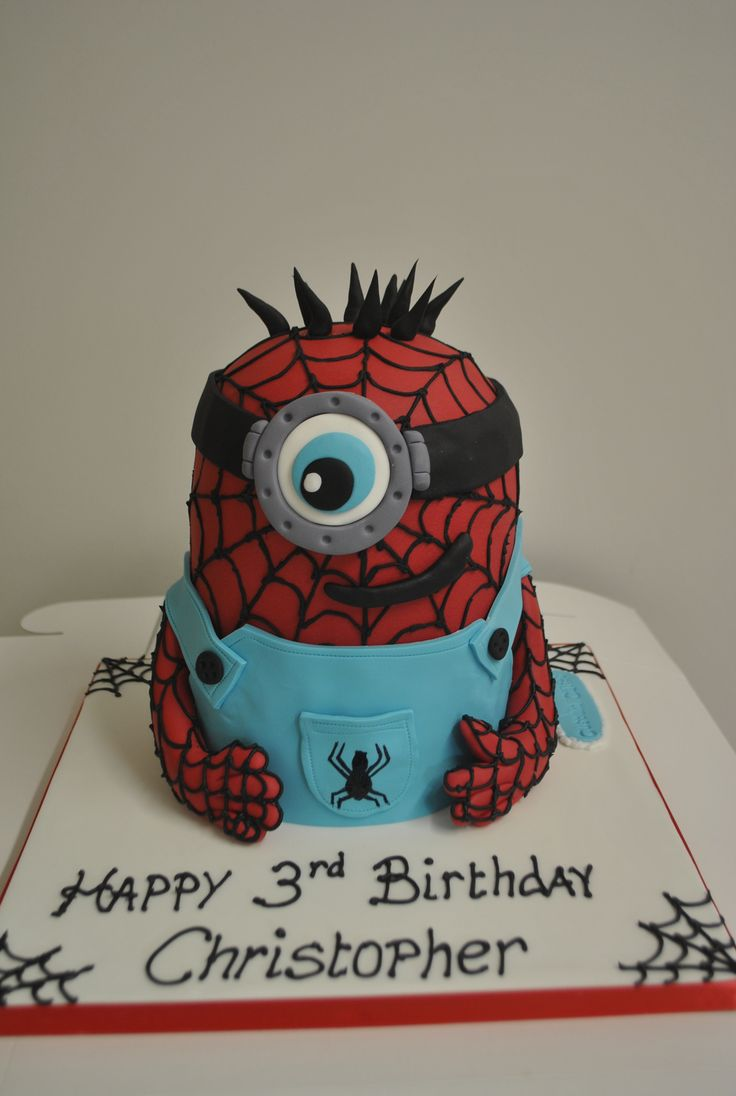 Spiderman/Minion Cake!
