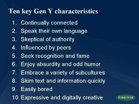 Generation Y Characteristics Ten key characteristics of ...