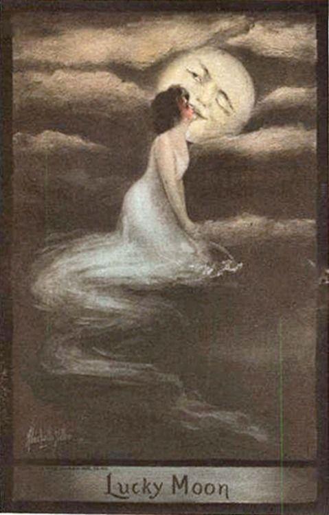 Lucky Moon. Postcard, 1909...