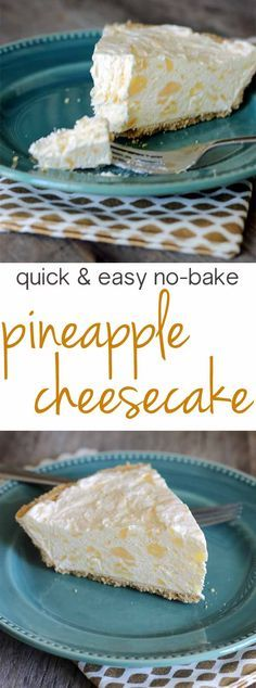 Four ingredients and under five minutes to make this pineapple cheesecake? Trying this one ASAP!