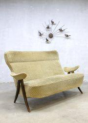 Vintage design two seats sofa tweezits lounge bank Artifort Theo Ruth