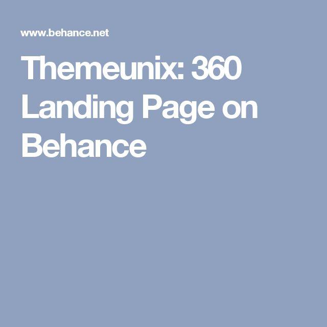 Themeunix: 360 Landing Page on Behance