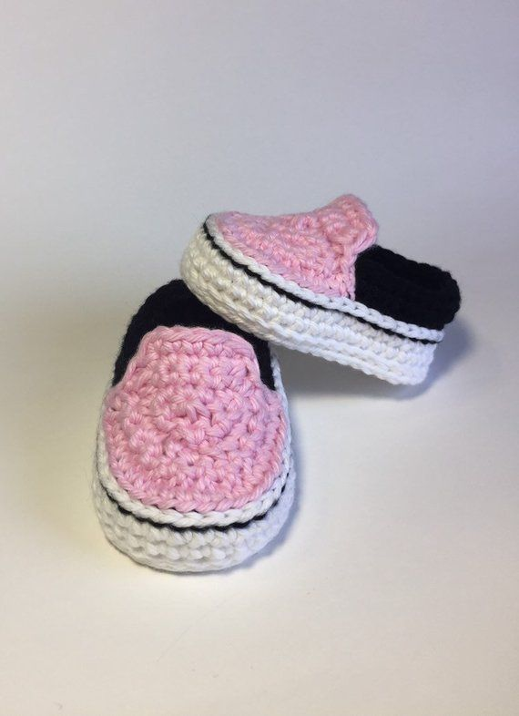 crochet vans style baby sneakers