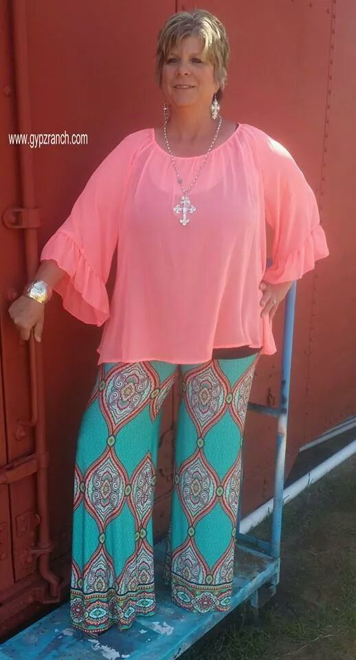 Made By Magic Turquoise Palazzo Pants  - Plus Size www.gypzranch.com