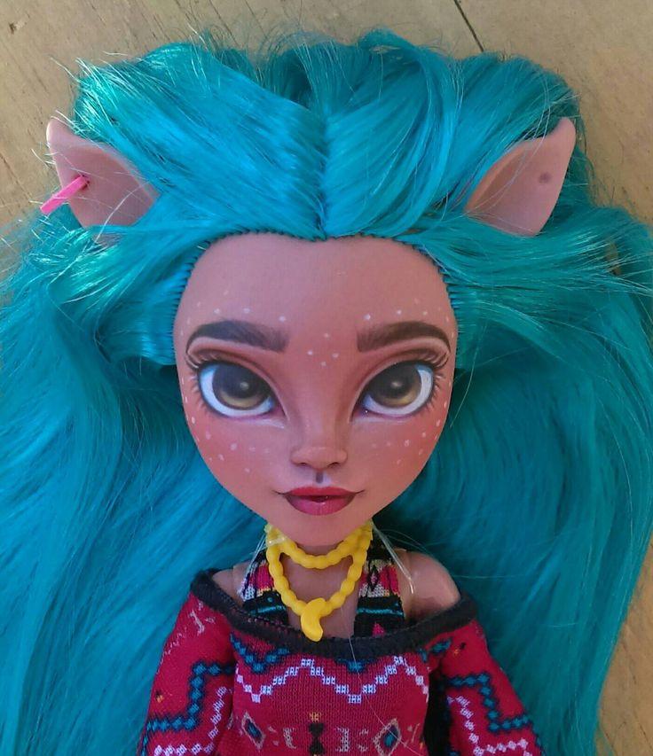 OOAK Custom Monster High Doll Repaint **Awinita** Isi Dawndancer Deer Girl Doll Faceup by SirensandSeaweed on Etsy https://www.etsy.com/listing/462192535/ooak-custom-monster-high-doll-repaint