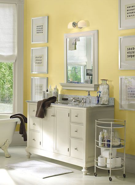 Bathroom Yellow Paint top 25+ best hawthorne yellow ideas on pinterest | benjamin moore